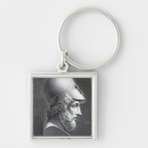 Bust of Pericles, engraved by Giuseppe Cozzi Key Chains