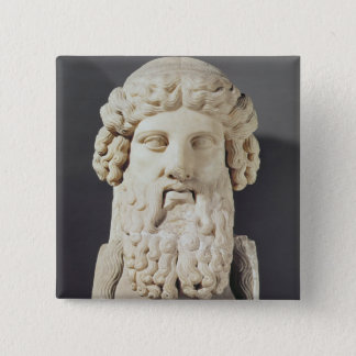 Bust of Plato 15 Cm Square Badge