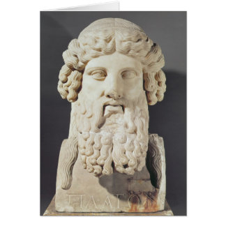 Bust of Plato Card