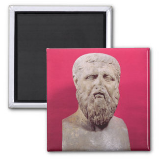 Bust of Plato  copy of a 4th century BC original Square Magnet