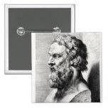 Bust of Plato engraved by Lucas Emil 15 Cm Square Badge