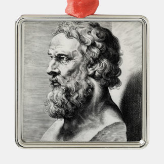 Bust of Plato engraved by Lucas Emil Christmas Ornament