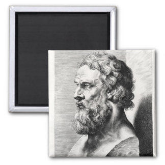 Bust of Plato engraved by Lucas Emil Magnet
