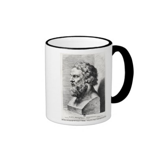 Bust of Plato engraved by Lucas Emil Coffee Mug