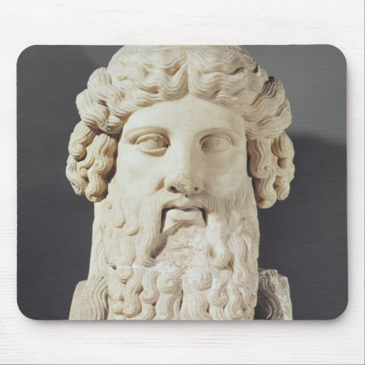 Bust of Plato Mouse Pad