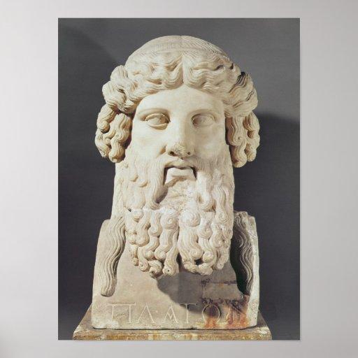 Bust of Plato Print