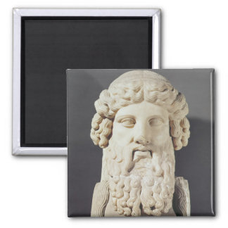 Bust of Plato Square Magnet