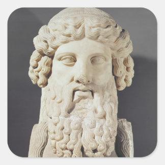 Bust of Plato Square Sticker