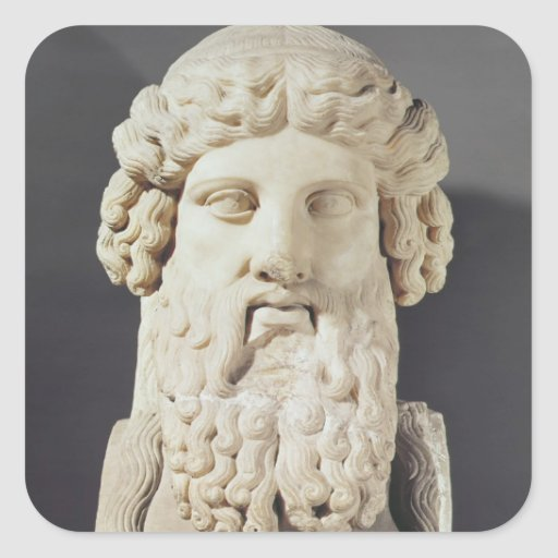 Bust of Plato Stickers