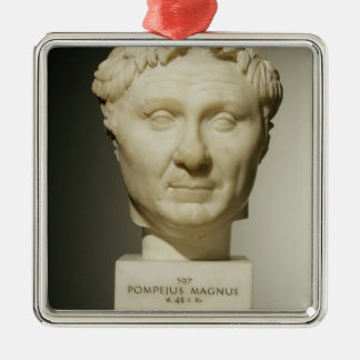 Bust of Pompey (106-48 BC) c.60 BC (marble) Christmas Ornament