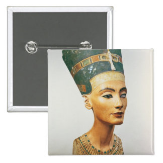 Bust of Queen Nefertiti, from the studio of the sc 15 Cm Square Badge