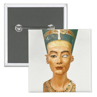 Bust of Queen Nefertiti, front view, from the stud 15 Cm Square Badge