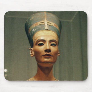 Bust of Queen Nefertiti, front view Mouse Pad