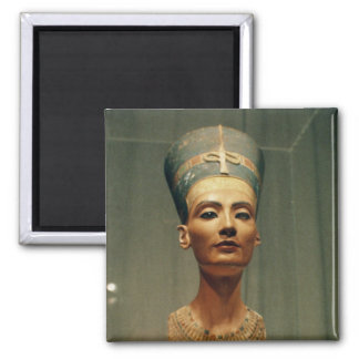 Bust of Queen Nefertiti, front view Square Magnet