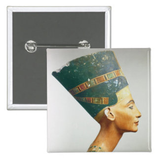 Bust of Queen Nefertiti, side view, from the studi 15 Cm Square Badge