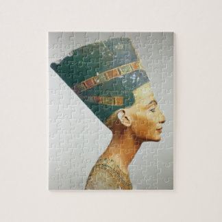 Bust of Queen Nefertiti, side view, from the studi Jigsaw Puzzle