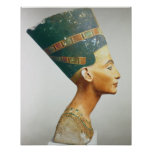 Bust of Queen Nefertiti, side view, from the studi Poster