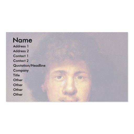 Bust Of Rembrandt. By Follower Of Rembrandt Business Card Template