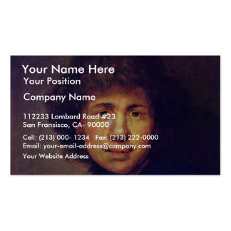 Bust Of Rembrandt. By Follower Of Rembrandt Double-Sided Standard Business Cards (Pack Of 100)