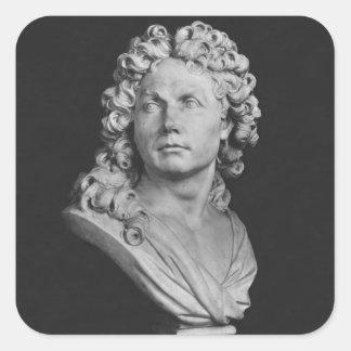 Bust of Robert de Cotte, 1707 Square Sticker