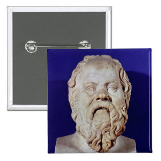 Bust of Socrates 15 Cm Square Badge
