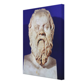 Bust of Socrates Canvas Print