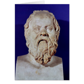Bust of Socrates Greeting Card