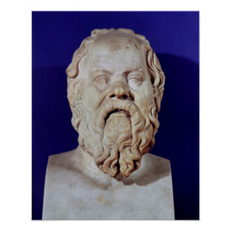 Bust of Socrates Poster