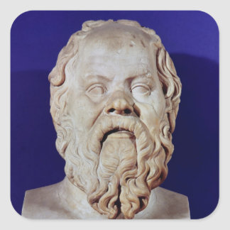 Bust of Socrates Square Sticker