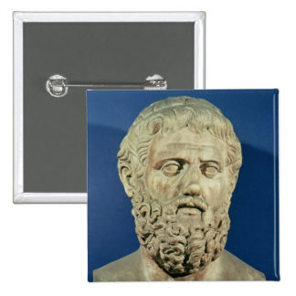Bust of Sophocles 15 Cm Square Badge
