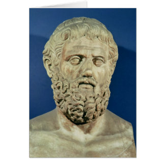 Bust of Sophocles Greeting Card