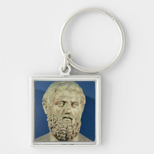 Bust of Sophocles Keychain