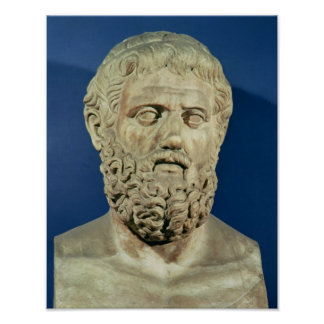 Bust of Sophocles Poster