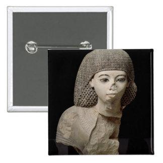 Bust of the Royal Scribe, Meniou, New Kingdom 15 Cm Square Badge