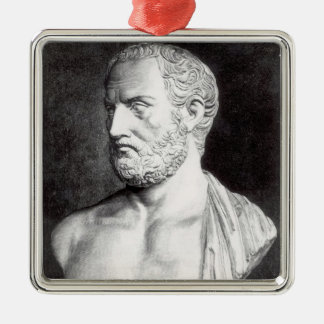 Bust of Thucydides , engraved by Barbant Silver-Colored Square Decoration