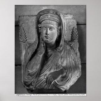 Bust of Ummayat wife of Yarhai Poster
