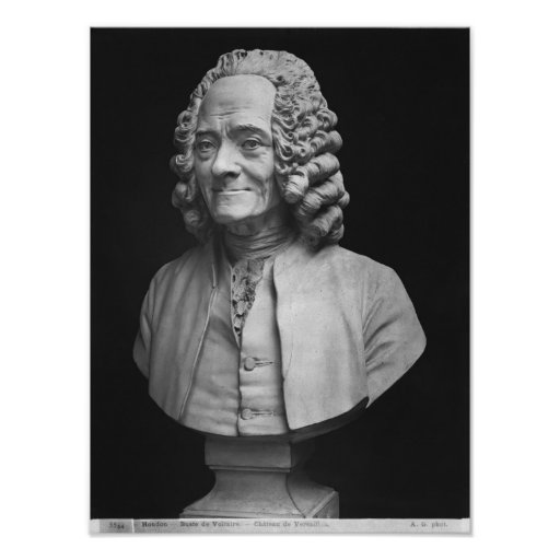 Bust of Voltaire Print