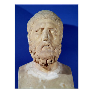 Bust of Zeno of Citium Poster