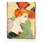 Bust portrait by Toulouse-Lautrec Post Cards