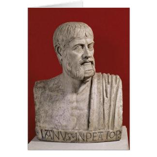 Bust presumed to be Flavius Claudius Julianus Greeting Card