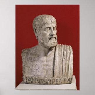 Bust presumed to be Flavius Claudius Julianus Poster