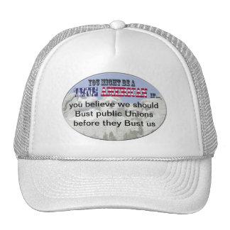 bust public unions trucker hat