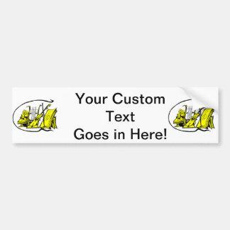 bust yellow lyre violin sheet music design.png bumper sticker