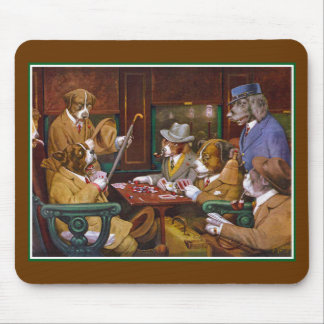 """Busted! (""""His Station and Four Aces"""") Mouse Pad"""