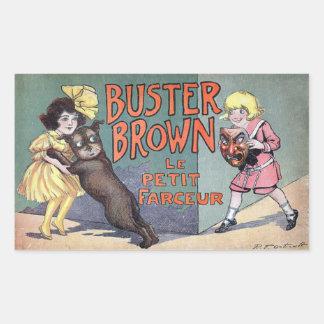 Buster Brown Rectangular Sticker