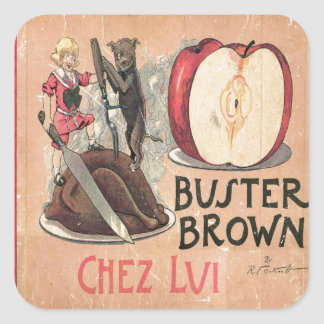 Buster Brown Square Sticker