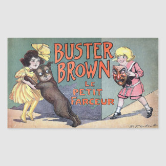 Buster Brown Rectangle Sticker