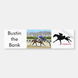 Bustin the Bank Bumper Sticker
