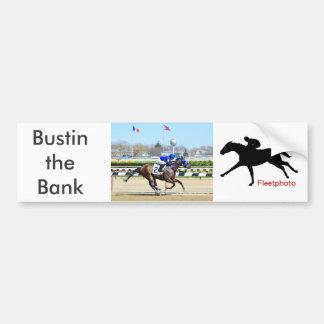 Bustin the Bank Bumper Sticker