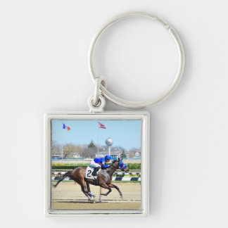Bustin the Bank Silver-Colored Square Key Ring